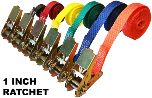 Customtiedowns 1 Inch Ratchet Cinch Straps