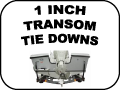 transom tie downs - 1 Inch