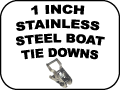 stainless steel boat tie downs - 1 Inch