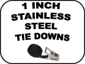 1 inch stainless steel tie downs