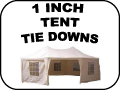 1 inch tent tie-Downs
