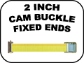 2 INCH CAM BUCKLE FIXED ENDS