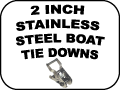stainless steel boat tie downs - 2 Inch
