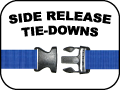 side release tie-Downs