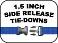 1.5 INCH SIDE RELEASE TIE-DOWNS