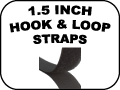 1.5 inch hook and loop straps