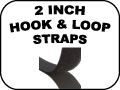 2 inch hook and loop straps