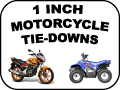 1 INCH MOTORCYCLE TIE DOWNS